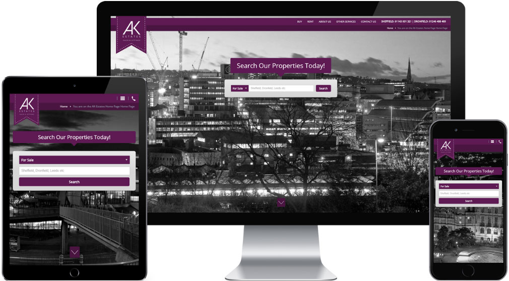 Web-Design-Sheffield-AK-Estates